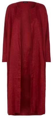 eskandar A-Line Linen Coat