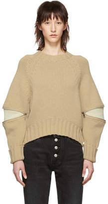Alexander McQueen Tan Zip Sweater