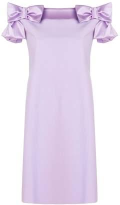 Chiara Boni bow embellished flared dress