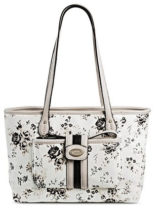 Bolo Women's Faux Leather Tote Handbags with Floral Design - White $44.99 thestylecure.com