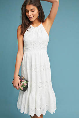 Maeve Tiered Eyelet Midi Dress
