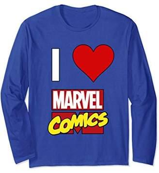 Marvel I HEART COMICS True Fan Love Long Sleeve Tee