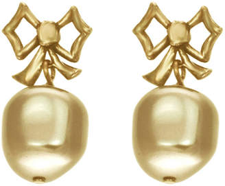 Dominique Cohen DOM BY dom by Gold-Tone Pearlescent Bow Earrings