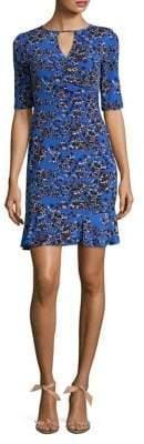 Taylor Printed Ruffle Dress