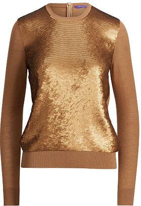 Ralph Lauren Sequined Cashmere Sweater $1,650 thestylecure.com
