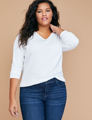 Lane Bryant Long-Sleeve V-Neck Tee