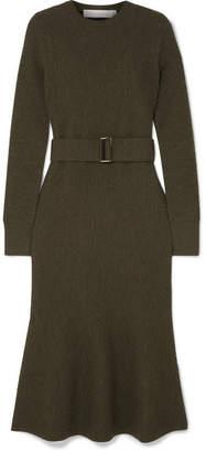 Victoria Beckham Wool-bouclé Midi Dress - Green