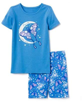 Gymboree Luna Moth 2-Piece Shortie Pajamas