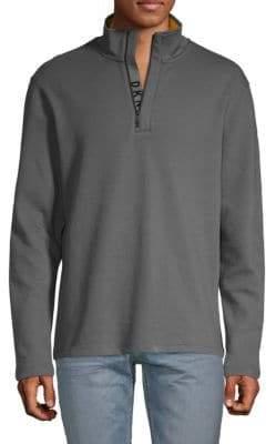 DKNY Quarter-Zip Cotton Blend Pullover