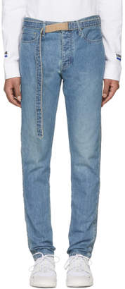 Sacai Blue Belted Jeans