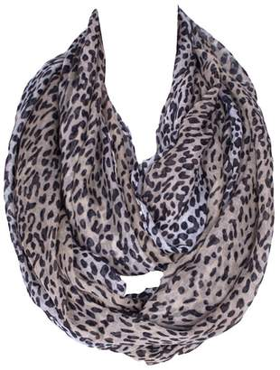 SUNDAY ROSE Leopard Print Infinity Scarf Sundayrose Lightweight Animal Circle Loop Scarves