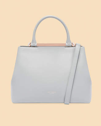 f0b3a60e30a3 Ted Baker ANABEL Pearl handle large leather tote bag