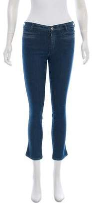 MiH Jeans Mid-Rise Cropped Jeans