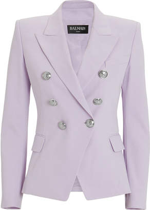 Balmain Lilac Classic Double-Breasted Blazer