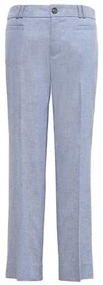 Banana Republic Petite Logan Trouser-Fit Cropped Stretch Linen-Cotton Pant