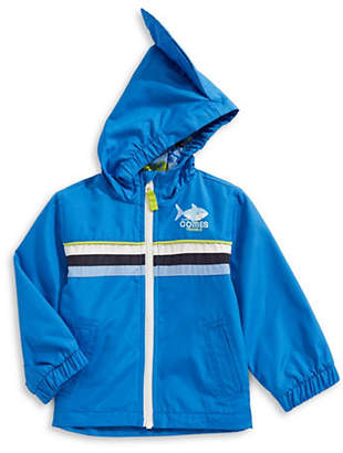 London Fog F.O.G. BY Graphic Shark Fin Hooded Jacket