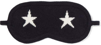 Chinti and Parker Star Cashmere Eye Mask - Navy