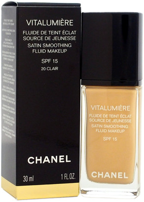 Chanel 1Oz Vitalumiere Satin Smoothing Fluid Makeup #20 Clair