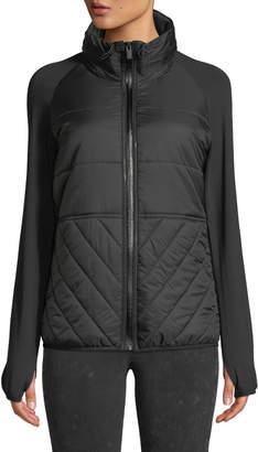 Marc Ny Performance Spliced Raglan-Sleeve Puffer Jacket
