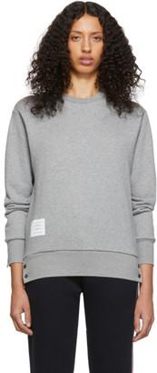 Thom Browne Grey Classic Loopback Crewneck Sweatshirt