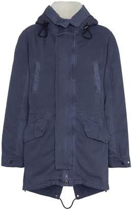 Yves Salomon shearling trim padded parka coat