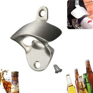 Kadell Silver Stainless Steel Bottle Cap Opener Anti-rust Bar Beer Coke Wine Tool Wall Mounted Kitchen w/Screw