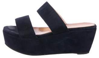 Robert Clergerie Flatform Slide Sandals