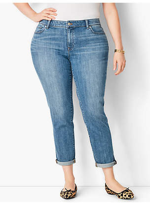 Talbots Plus Size Exclusive Girlfriend Jean - Curvy Fit/Cosmo Wash