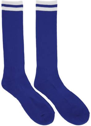 Undercover Blue Logo Socks