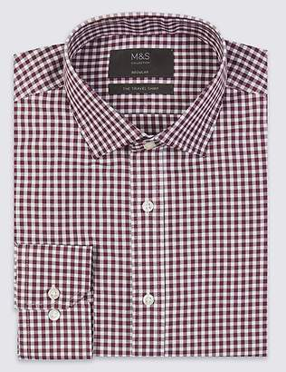 Marks and Spencer Cotton Blend Non-Iron Twill Regular Fit Shirt