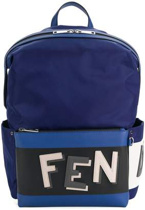 Fendi logo embroidered backpack