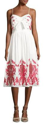 Red Carter Sage Embroidered Cotton Sundress $220 thestylecure.com