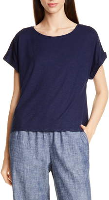 Eileen Fisher Boxy Hemp & Organic Cotton Top