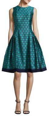 Carmen Marc Valvo Polka Dot Jacquard Dress $495 thestylecure.com