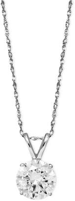 Arabella 14k White Gold Necklace, Swarovski Zirconia Round Pendant (2-1/6 ct. t.w.)