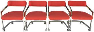 One Kings Lane Vintage DIA Chairs on Casters - Set of 4 - nihil novi