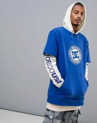 DC Dryden Hoodie in Blue/White