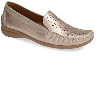 Gabor Perforated Leather Flat