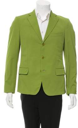 Bottega Veneta Woven Three-Button Blazer