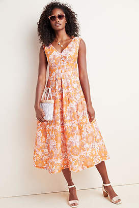 Tracy Reese Hope for Flowers by Michelle Floral Midi Dress