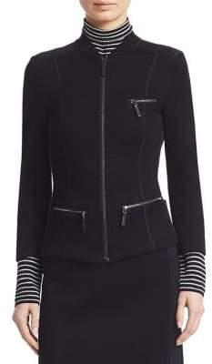 Piazza Sempione Jersey Zip-Up Jacket