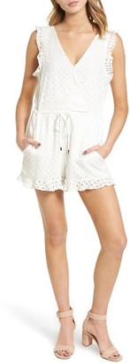 Women's Willow & Clay Eyelet Surplice Romper $89 thestylecure.com