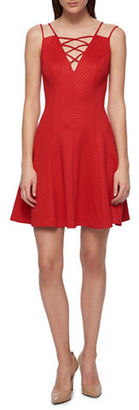 Guess Embossed Chevron Dress $138 thestylecure.com