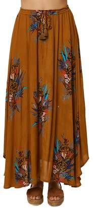 O'Neill Karla Floral Print Maxi Skirt