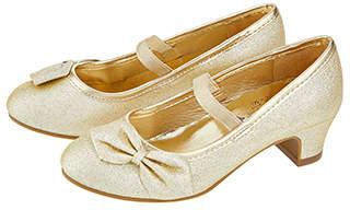 Accessorize Gold Bow Flamenco Shoes