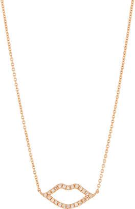 Sydney Evan 14k Diamond Lips Pendant Necklace