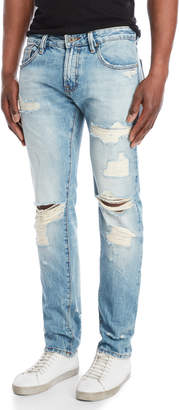 Cult of Individuality Distressed Rocker Slim Fit Jeans