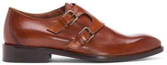 Donald J Pliner VIVALDO, Burnished Calf Leather Monk Strap Loafer
