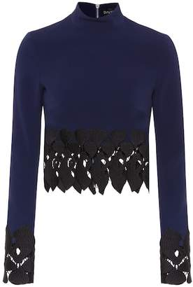 David Koma Embroidered top