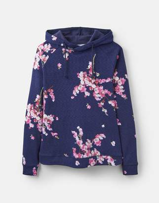 Joules French Navy Blossom 204524 Printed Semi-Fitted Sweatshirt Size 16